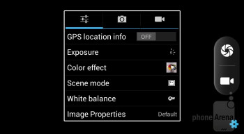 The camera app has all most common shooting modes - Acer Liquid E2 Review