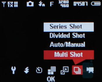 Camera interface - Samsung Alias U740 Review