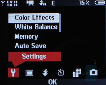 Camcorder interface - Samsung Alias U740 Review