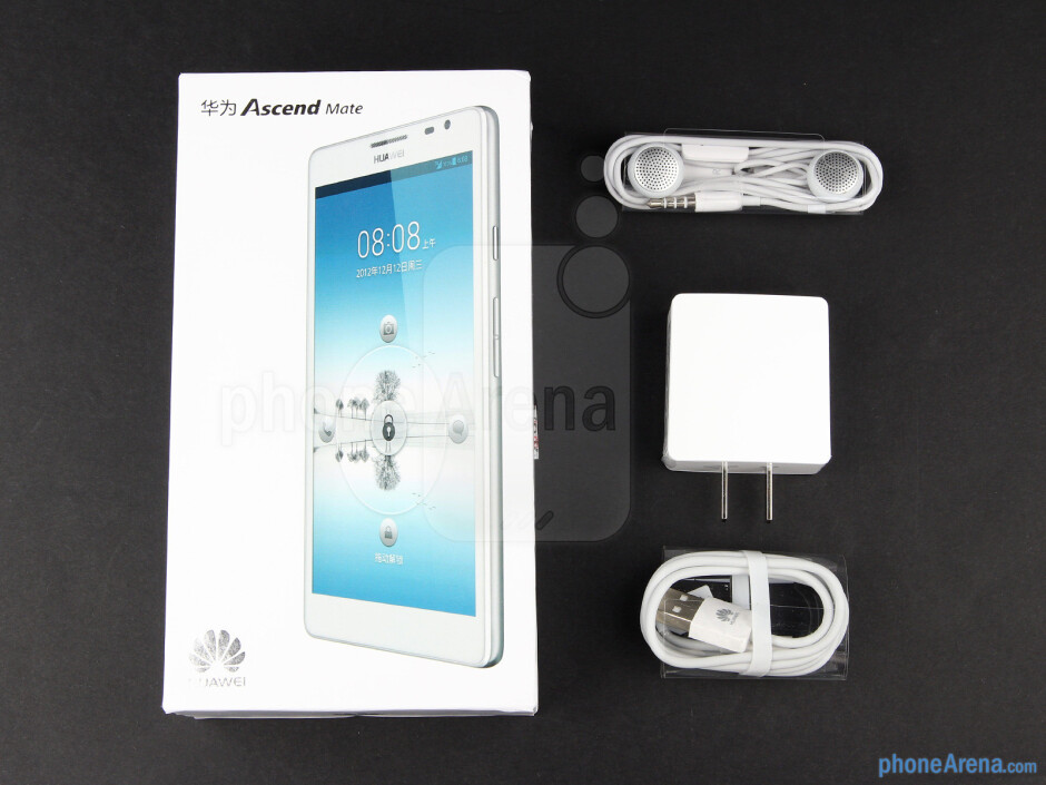 Box and contents - Huawei Ascend Mate Review
