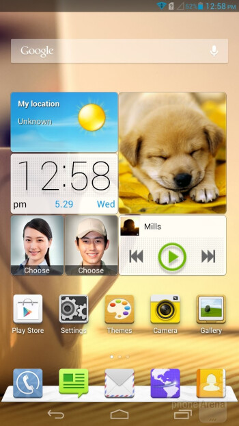 Emotion UI is overlayed on top of Android 4.1.2 on the Huawei Ascend Mate - Huawei Ascend Mate Review