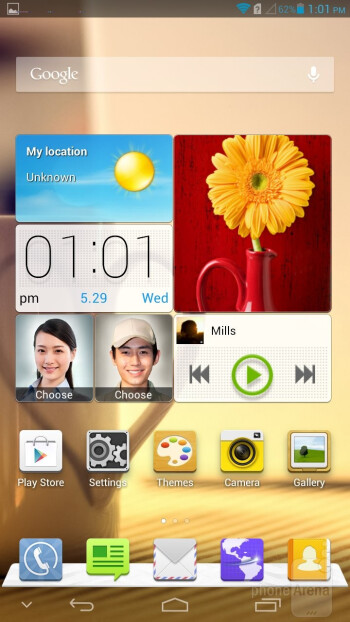 You can hide and show the on-screen navigation bar at will - Huawei Ascend Mate Review
