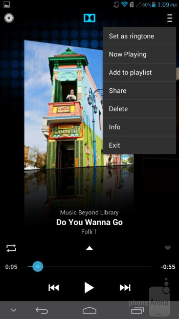 Music player of the Huawei Ascend Mate - Samsung Galaxy Mega 6.3 vs Huawei Ascend Mate