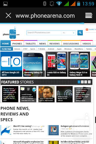Web browsing on the Acer Liquid Z2 - Acer Liquid Z2 Review