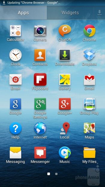 The newest TouchWiz Nature UX 2.0 is what's painted over Android 4.2.2 on the Samsung Galaxy Mega 6.3 - Samsung Galaxy Mega 6.3 vs Galaxy Note II