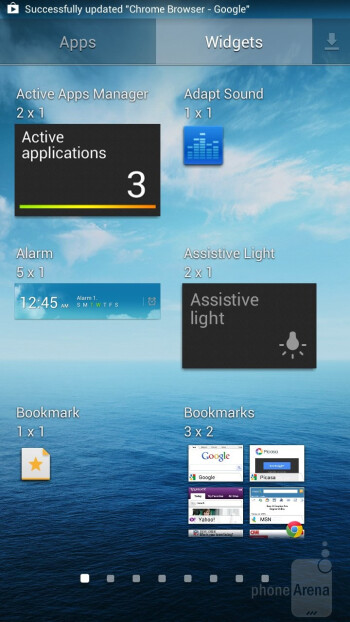 The newest TouchWiz Nature UX 2.0 is what's painted over Android 4.2.2 on the Samsung Galaxy Mega 6.3 - Samsung Galaxy Mega 6.3 vs Huawei Ascend Mate