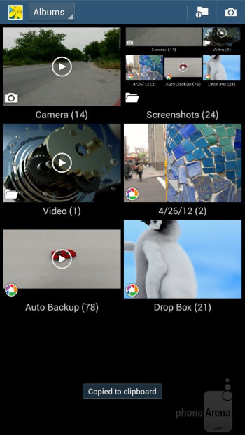 The gallery app of the Samsung Galaxy Mega 6.3 has a built-in editing option with a rich set of features - Samsung Galaxy Mega 6.3 vs Galaxy Note II