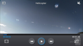 Video player of the Samsung Galaxy Mega 6.3 - Samsung Galaxy Mega 6.3 vs Huawei Ascend Mate