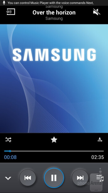 The music player of the Samsung Galaxy Mega 6.3 - Samsung Galaxy Mega 6.3 vs Galaxy Note II