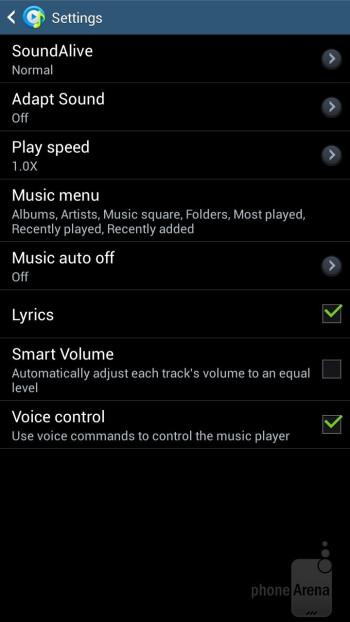 The music player of the Samsung Galaxy Mega 6.3 - Samsung Galaxy Mega 6.3 vs Huawei Ascend Mate