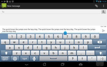 On-screen keyboard - Asus Fonepad Review