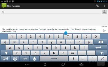 On-screen keyboard - Asus Fonepad Review