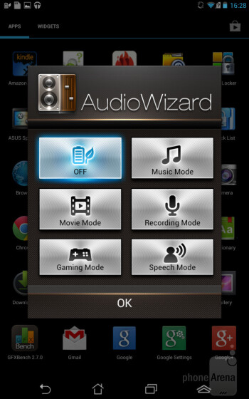 The AudioWizard app - Asus Fonepad Review