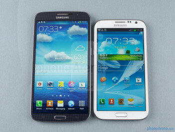 Samsung Galaxy Mega 6.3 vs Galaxy Note II