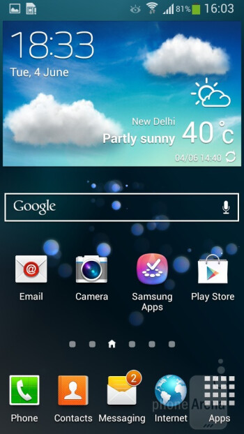 Samsung Galaxy S4 mini runs the TouchWiz UI on top of Android 4.2.2 OS