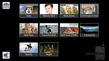 Camera interface - Samsung Galaxy S4 mini Review