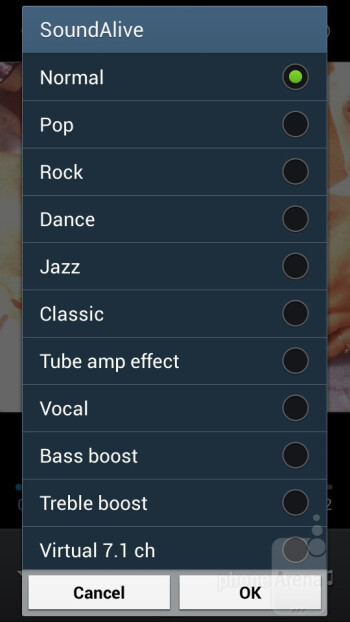 The Music player of the Galaxy S4 mini - Samsung Galaxy S4 mini Review