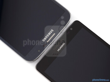Front cameras - The Samsung Galaxy Mega 6.3 (left) and the Huawei Ascend Mate (right) - Samsung Galaxy Mega 6.3 vs Huawei Ascend Mate