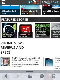 Web browser - LG Optimus L3 II Review