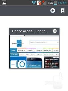 Web browser - LG Optimus L3 II Review