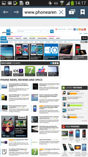 Browsing the web is a joy - Samsung Galaxy S4 Active Preview