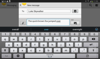 Texting is a mixed bag - Samsung Galaxy Tab 3 7-inch Preview