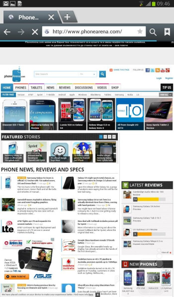 Browsing the web - Samsung Galaxy Tab 3 7-inch Preview