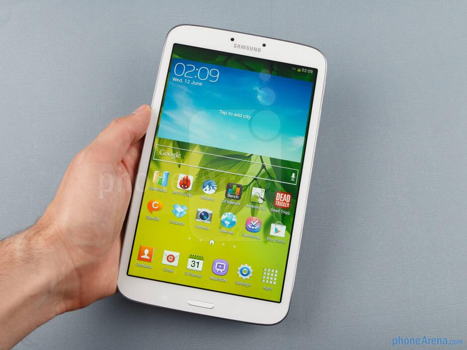 The Samsung Galaxy Tab 3 8-inch is very comfortable to hold - Samsung Galaxy Tab 3 8-inch Review