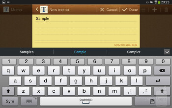 On-screen keyboard - Samsung Galaxy Tab 3 8-inch Review