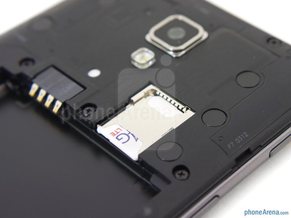 SIM card slot - LG Optimus F7 Review