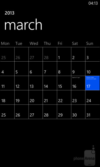 We like the Calendar application for its simplicity and speed - Nokia Lumia 925 Review