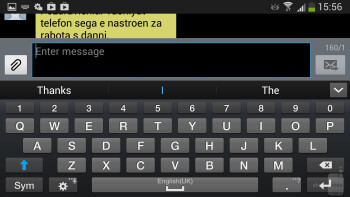 On-screen keyboard - Samsung Galaxy S4 Active Review