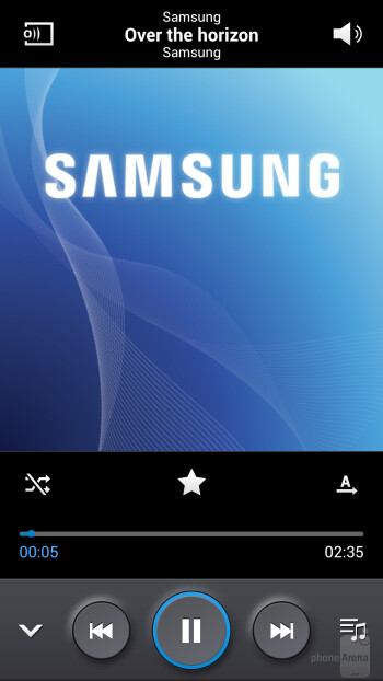 Music player on the Samsung Galaxy S4 Active - Samsung Galaxy S4 Active Review