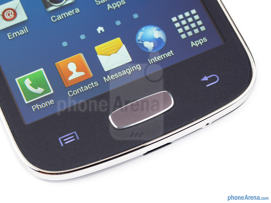 The navigation buttons below the display - Samsung Galaxy Ace 3 Review