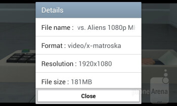 The video player handles most major formats - Samsung Galaxy Ace 3 Review