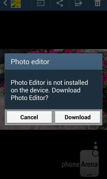 The Photo Editor has to be downloaded separately - Samsung Galaxy Ace 3 Review