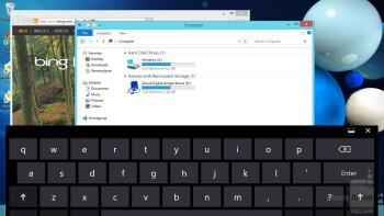 On-screen keyboard - Samsung ATIV Tab 3 Preview