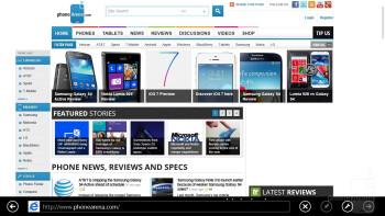 Web browsing - Samsung ATIV Tab 3 Preview