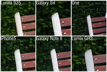 100% crops - Camera comparison: Nokia Lumia 925 vs Samsung Galaxy S4, HTC One, iPhone 5, Samsung Galaxy Note II