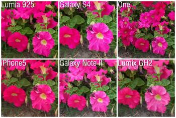 100% crop - Camera comparison: Nokia Lumia 925 vs Samsung Galaxy S4, HTC One, iPhone 5, Samsung Galaxy Note II