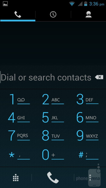 Dialer - Interface of the Sprint Vital - Sprint Vital Review