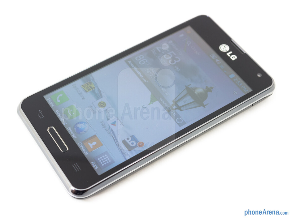 The LG Optimus F3's 4-inch IPS-LCD panel - LG Optimus F3 Review