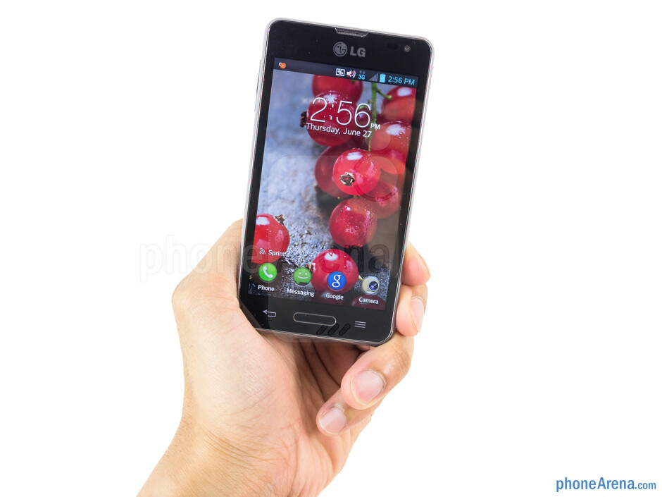 The LG Optimus F3 feels cheap with its construction - LG Optimus F3 Review
