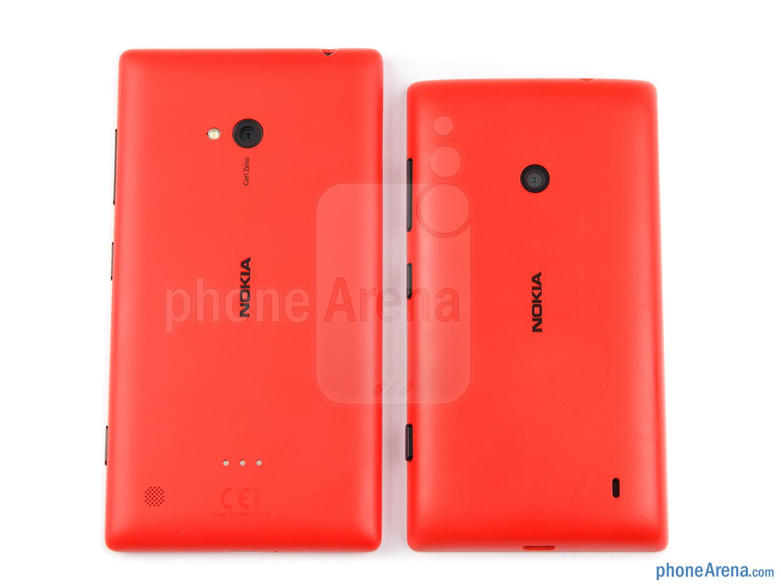 Nokia lumia 520 vs nokia lumia 720 the nokia lumia 520 right and lumia 720 left both share a ccuart Choice Image