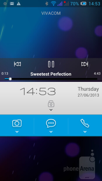 Lock screen - The Alcatel One Touch Idol ships with Android 4.1.1 Jelly Bean - Alcatel One Touch Idol Review