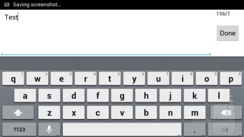 On-screen keyboard - Alcatel One Touch Idol Review