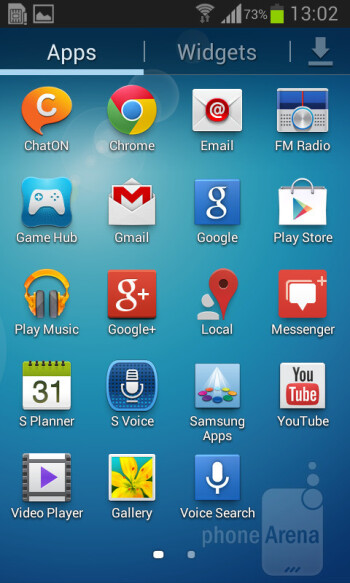 The Samsung Galaxy Core uses an older version of Samsung's custom UI - Samsung Galaxy Core Preview