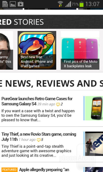 Browsing the web on the Galaxy Core is a smooth experience - Samsung Galaxy Core Preview