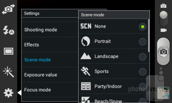 The camera interface of the Samsung Galaxy Core - Samsung Galaxy Core Preview