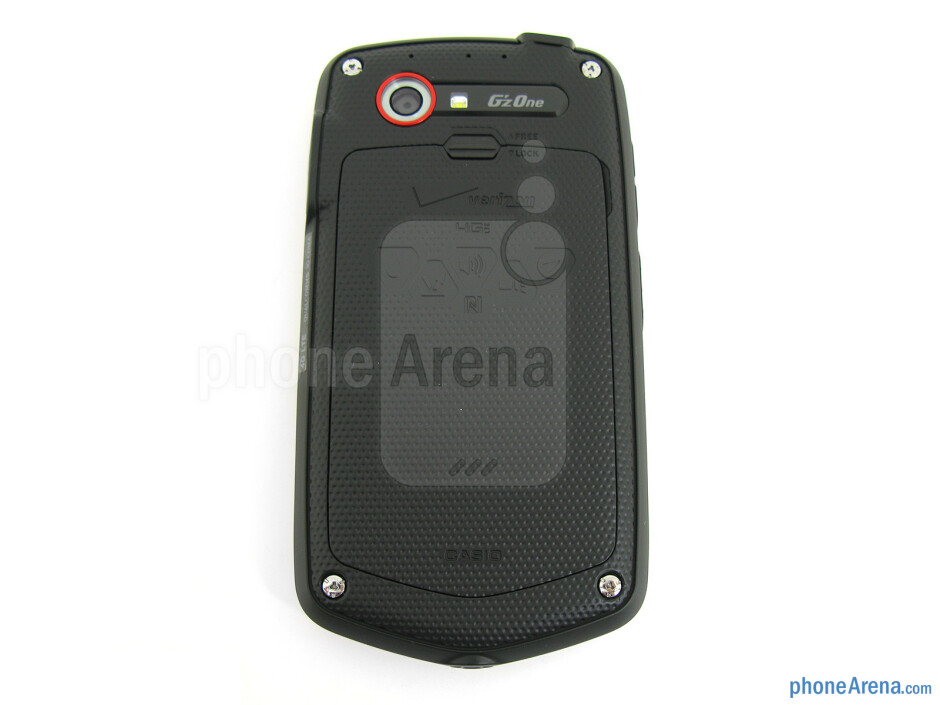 Back - The sides of the Casio G'zOne Commando 4G LTE - Casio G'zOne Commando 4G LTE Review